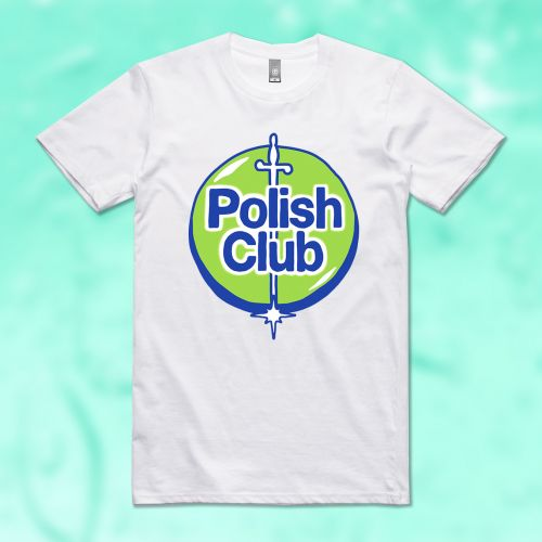 99.9% GERM FREE WHITE TSHIRT by Polish Club