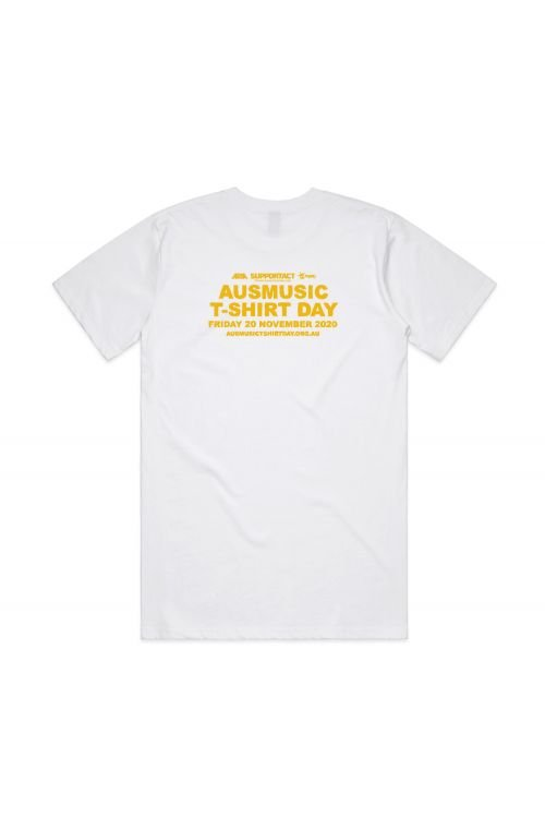 AUS MUSIC DAY EVENT UNISEX WHITE TSHIRT by Support Act