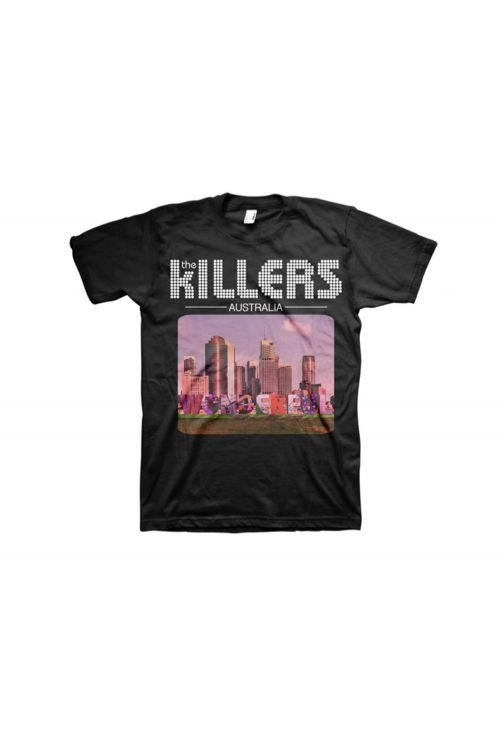 Australia Design Black Tshirt by The Killers