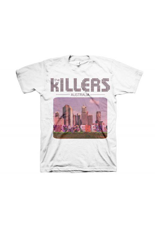 Australia Design White Tshirt by The Killers