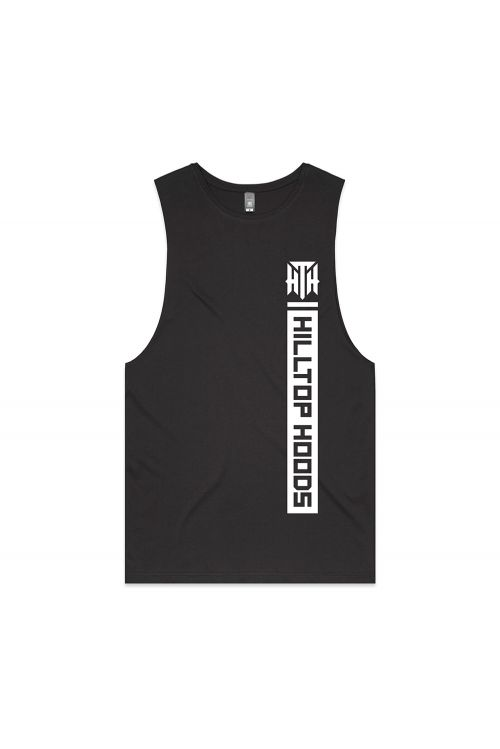 POCKET STRIP UNISEX CHARCOAL TANK by Hilltop Hoods