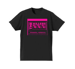 Wonderful Lyric Black Tshirt by The Killers