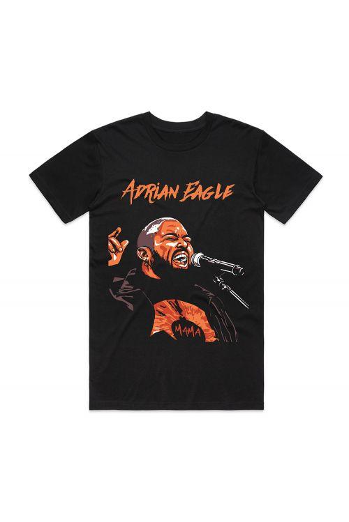 Mama Tour Black Tshirt by Adrian Eagle