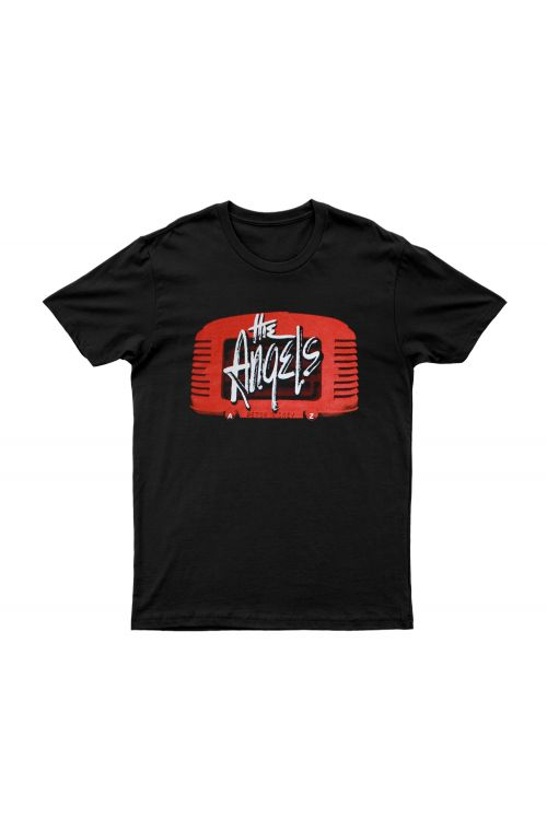 Wireless Show Black Tshirt by The Angels