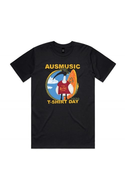 AUS MUSIC DAY EVENT UNISEX BLACK TSHIRT by Support Act