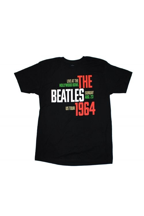 1964 Hollywood Black Tshirt by The Beatles