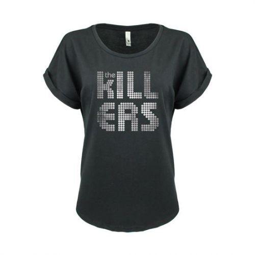 Distressed Shirt Logo Black Girls Tshirt by The Killers