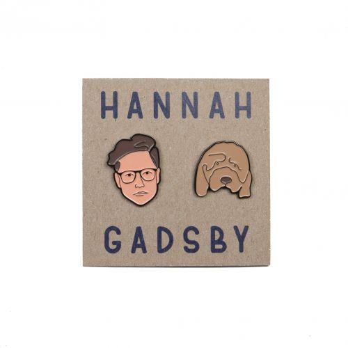 Hannah Gadbsy Face Enamel Pins by Hannah Gadsby