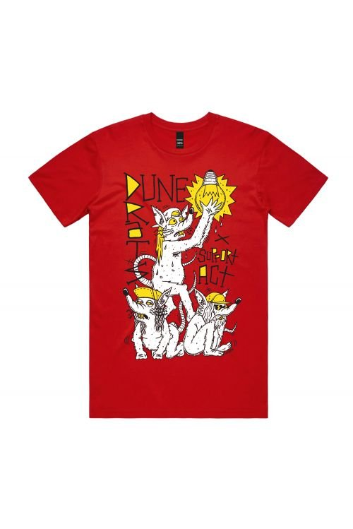 DUNE RATS AUS MUSIC DAY UNISEX RED TSHIRT by Support Act