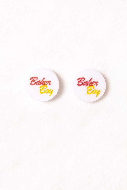 Earrings - White Studs by Baker Boy