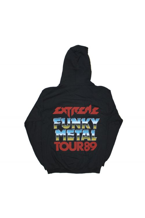 Funky Metal Black Hoody by Extreme