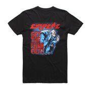 GTFO Black Tshirt w/dateback by Extreme