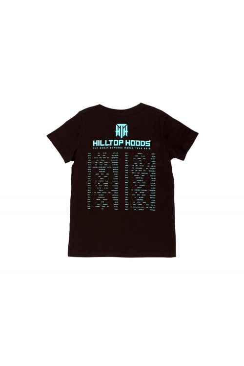 Great Expanse Tour Kids Black Tshirt by Hilltop Hoods