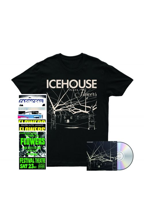 Icehouse Plays Flowers CD/ Tshirt/ Poster Set Bundle by Icehouse