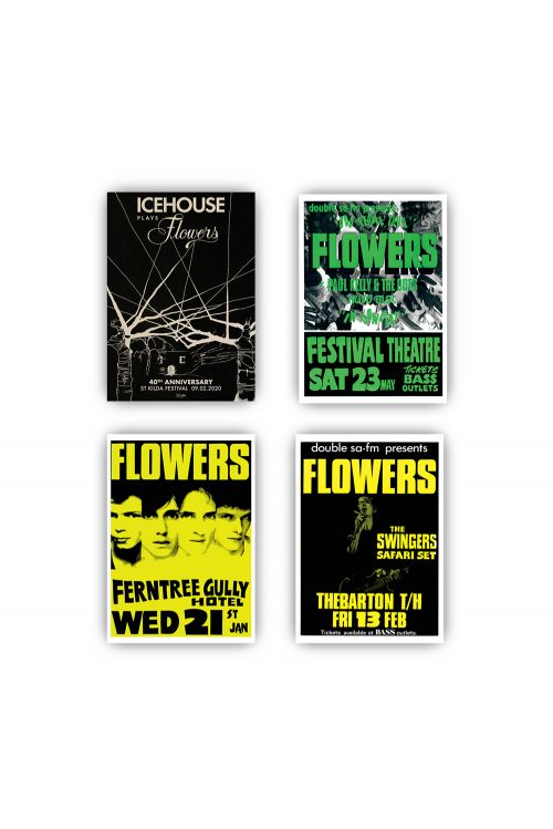 Icehouse Plays Flowers LP (Clear Vinyl)/ Tshirt/ Poster Set Bundle by Icehouse