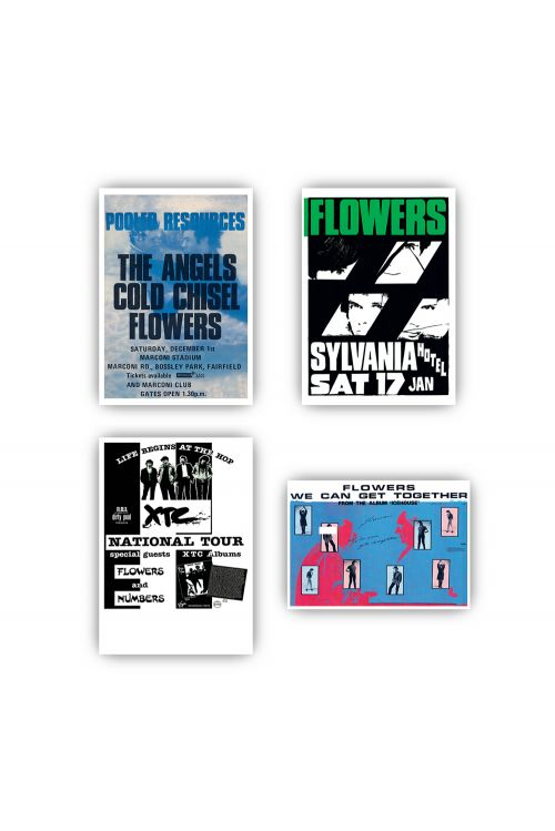 Icehouse Plays Flowers Digital Download/ Tshirt/ Poster Set Bundle by Icehouse