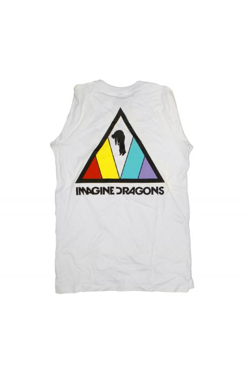 Colorful Triangle White Longsleeve Tshirt by Imagine Dragons