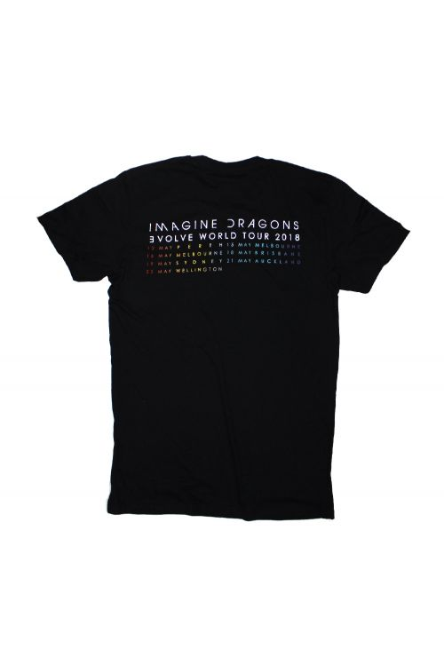 Color Dateback Black 2018 Tour Tshirt by Imagine Dragons