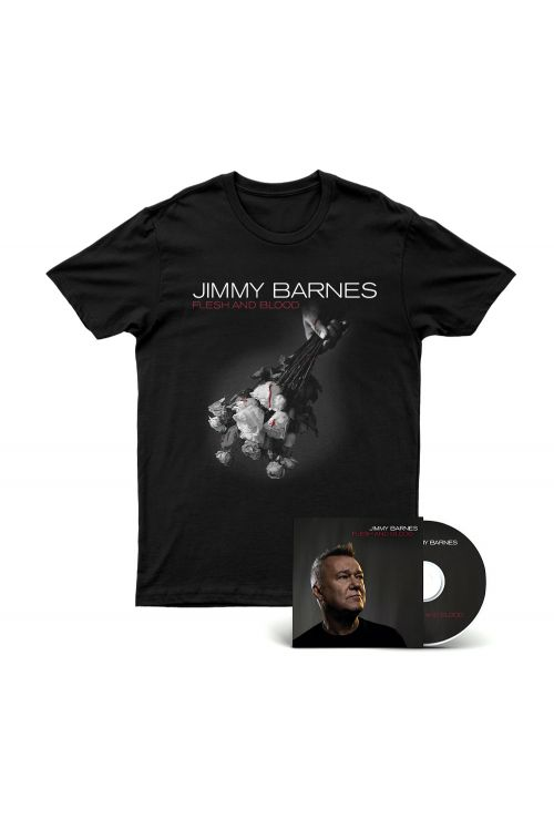Flesh And Blood CD/DVD (Deluxe Edition) + Tshirt by Jimmy Barnes