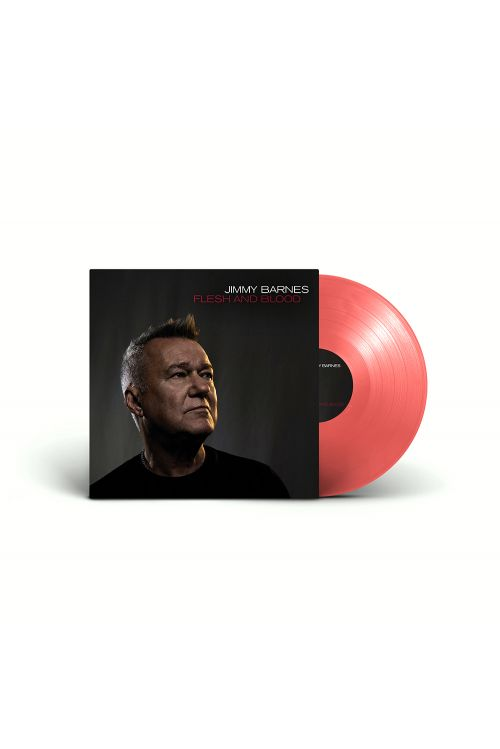 Flesh And Blood (Blood Red Vinyl) + Framed Signed Lithograph + Tshirt + Hoody + Beanie by Jimmy Barnes