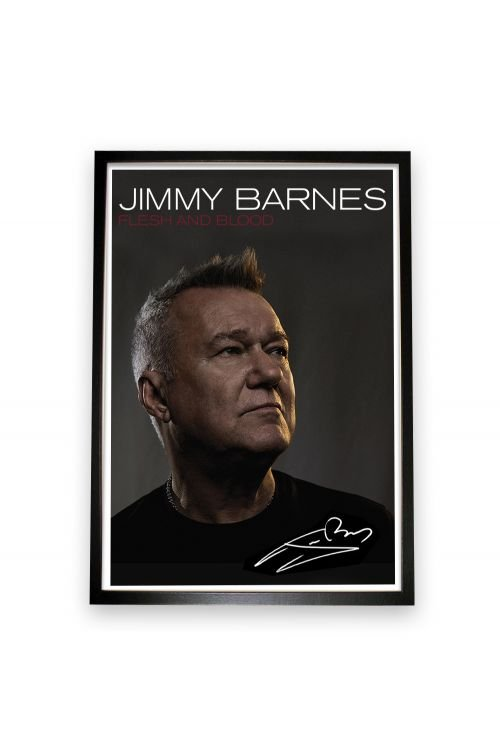 Flesh And Blood CD + Framed Signed Lithograph by Jimmy Barnes