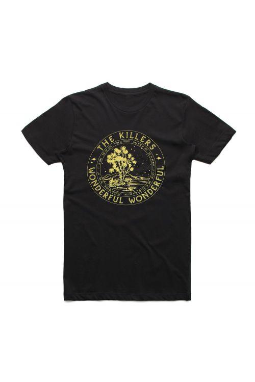 Circle Tour Black Tshirt w/dateback by The Killers