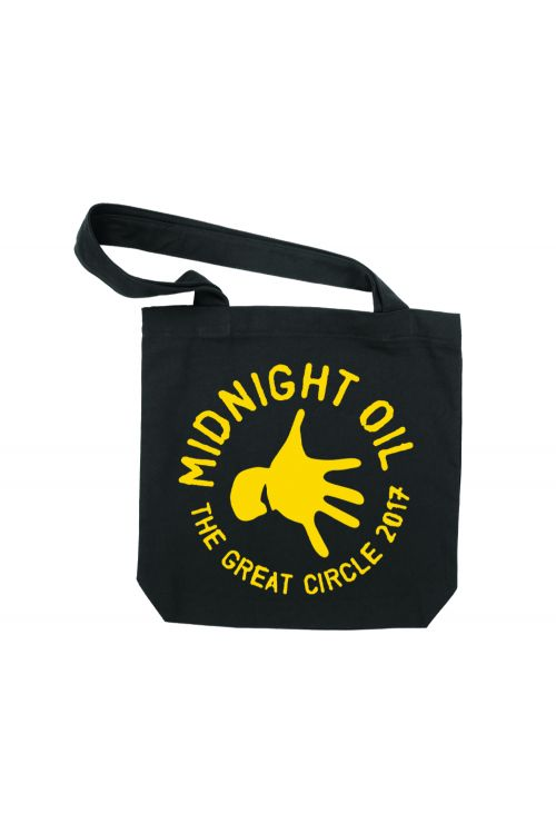 Tote Bag Black The Great Circle 2017 Tour by Midnight Oil