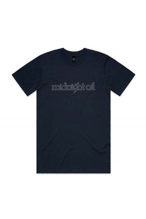 MIDNIGHT OIL AUS MUSIC DAY UNISEX NAVY TSHIRT by Support Act