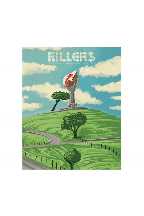 One Tree Hill Yellow Lithograph (NZ Exclusive) Heavy Stock by The Killers