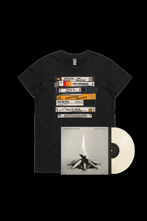 Unreleased 1998-2010 LP (Vinyl)/ VHS Black Tshirt by Powderfinger