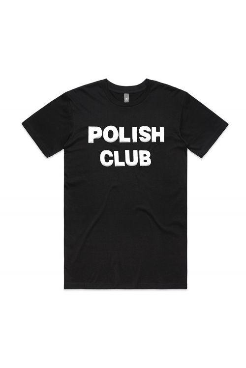 Classic Puffy Logo Black Tshirt by Polish Club