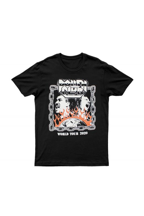 World Tour Black Tshirt by Polish Club