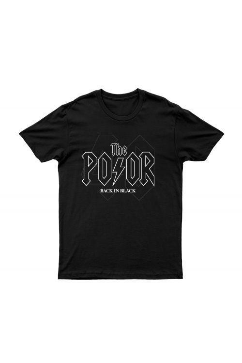 Back In Black Black Tshirt by The Poor