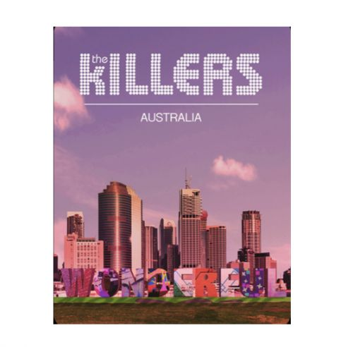 Australian Exclusive Lithograph (Heavy Stock) by The Killers