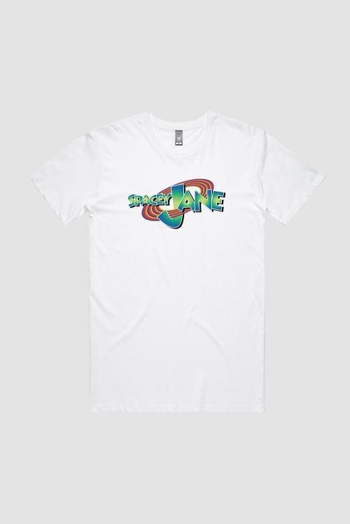 Space Jam Logo White Tshirt by Spacey Jane