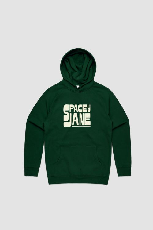 Stack Logo Green Hoodie by Spacey Jane