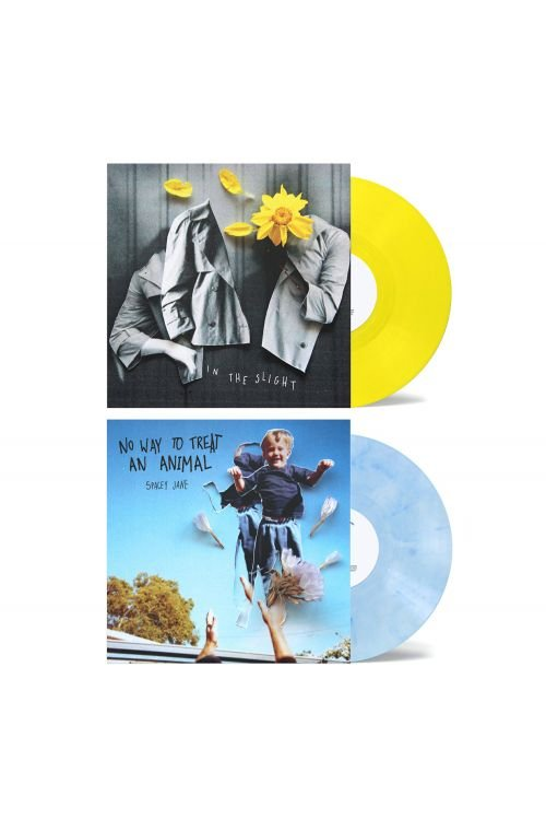 """No Way To Treat An Animal (EP) 10"""" Vinyl (V2 Blue/White)+ In The Slight (EP) 10"""" Vinyl (V2 Yellow) by Spacey Jane"""