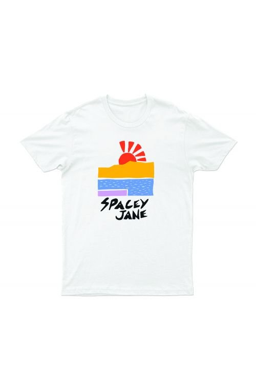 Beach Sun White Tshirt by Spacey Jane