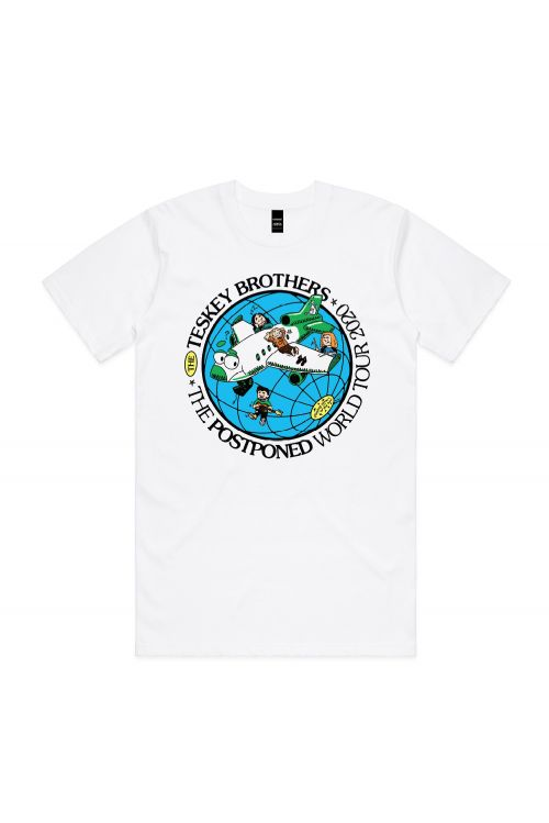 TESKEY BROTHERS AUS MUSIC DAY UNISEX WHITE TSHIRT by Support Act