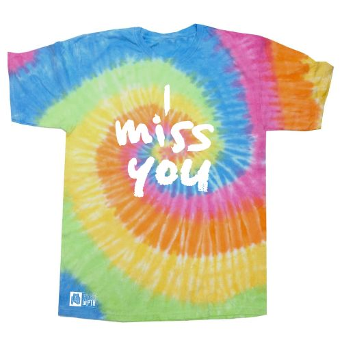 I Miss You multi colour tie dye tee by Thundamentals