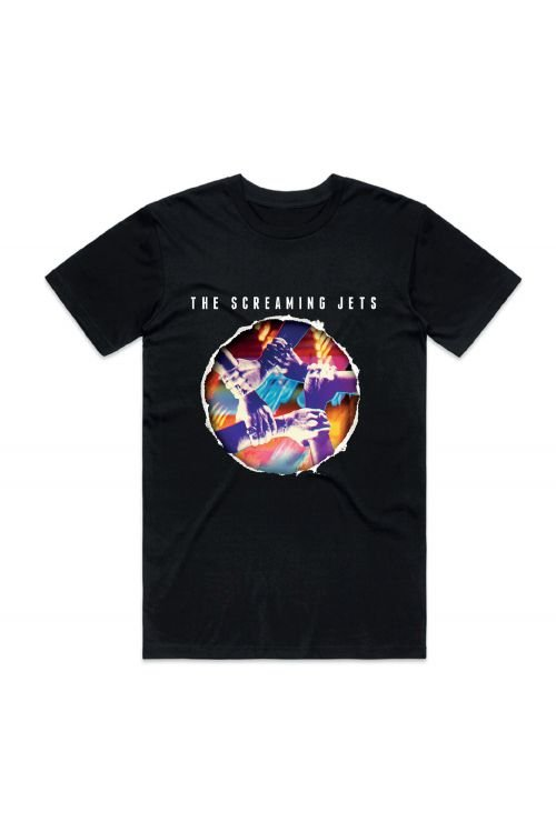 All For One - 30 Year Anniversary Edition Black Tshirt by The Screaming Jets