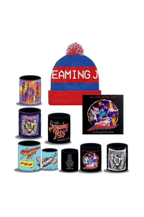 All For One - 30 Year Anniversary Edition CD+ Blue/Red Beanie + Stubby Bundle Pack by The Screaming Jets