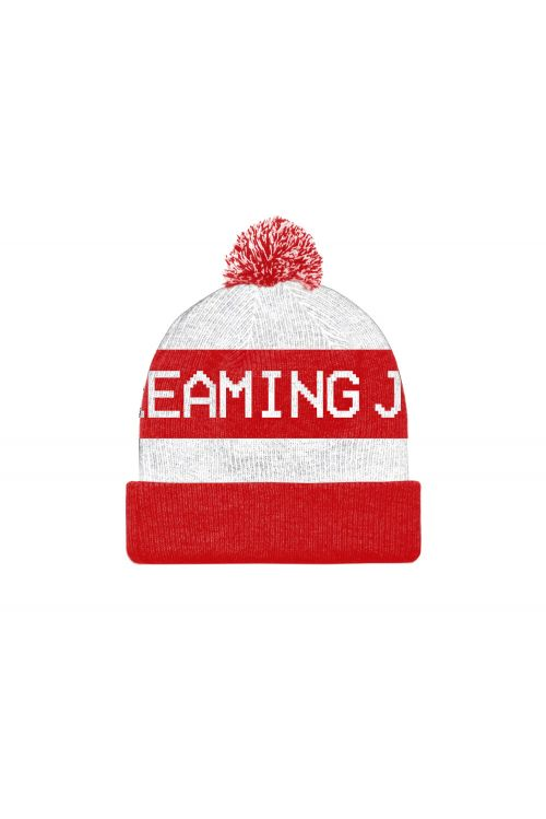 All For One - 30 Year Anniversary Edition Beanie (White/Red) by The Screaming Jets