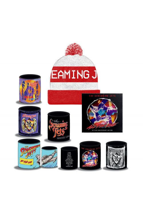 All For One - 30 Year Anniversary Edition CD+ White/Red Beanie + Stubby Bundle Pack by The Screaming Jets