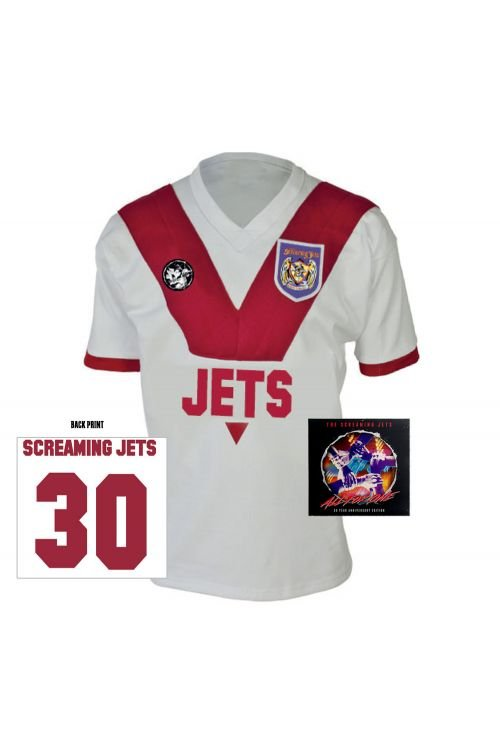 All For One - 30 Year Anniversary Edition Jersey (White/Red) + CD by The Screaming Jets