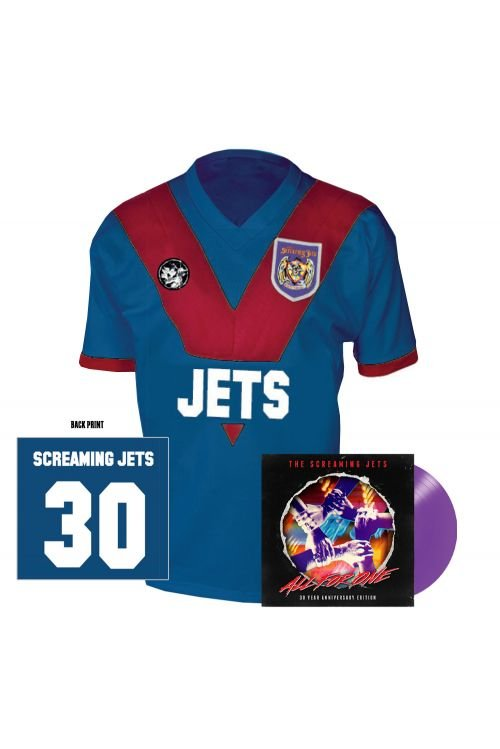 All For One - 30 Year Anniversary Edition Jersey (Blue/Red) + Purple Vinyl by The Screaming Jets