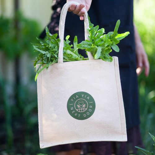Tote Bag - Eco Jute Natural by YiaYia Next Door
