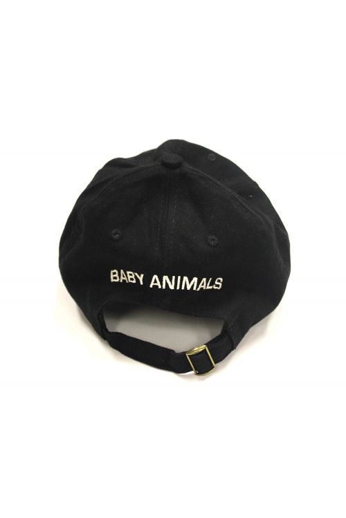 Embroidered Black Hat by Baby Animals