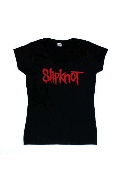 Logo Black Ladies Tshirt by Slipknot