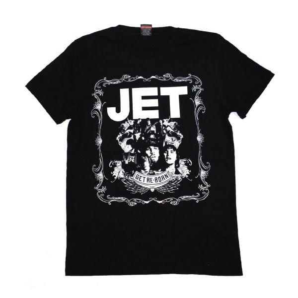 Jet Get Reborn Black Tour Tshirt w/dateback
